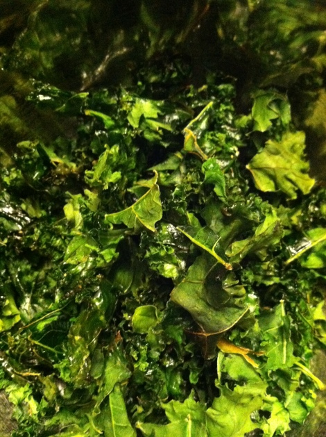 I love the dark green color of kale.  And that means it's good for you!