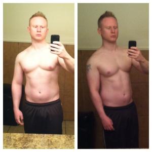 Me 12/22/13  at 161 lbs,  16% body fat, & 26.1 BMI